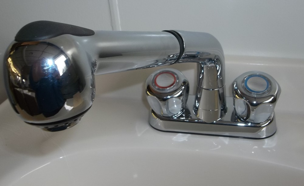 ASB Laundry sink Faucet includes supply lines, stopper & p-trap  $49.00
