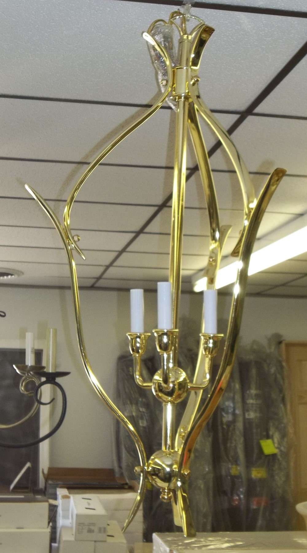 3 light Polished Brass $23.00