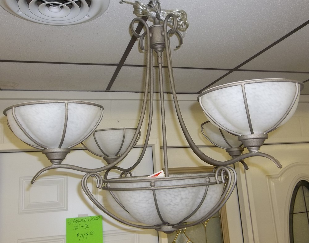 Chandelier Silver Rust finish $64.00