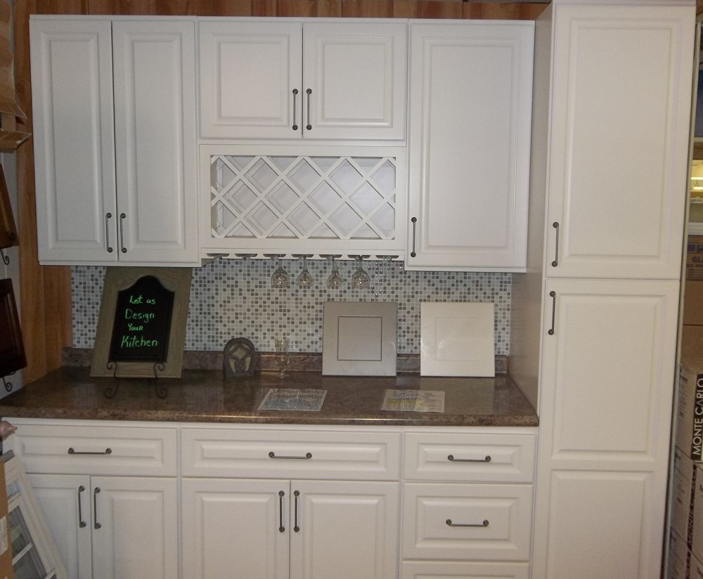 Newport White Kitchen display