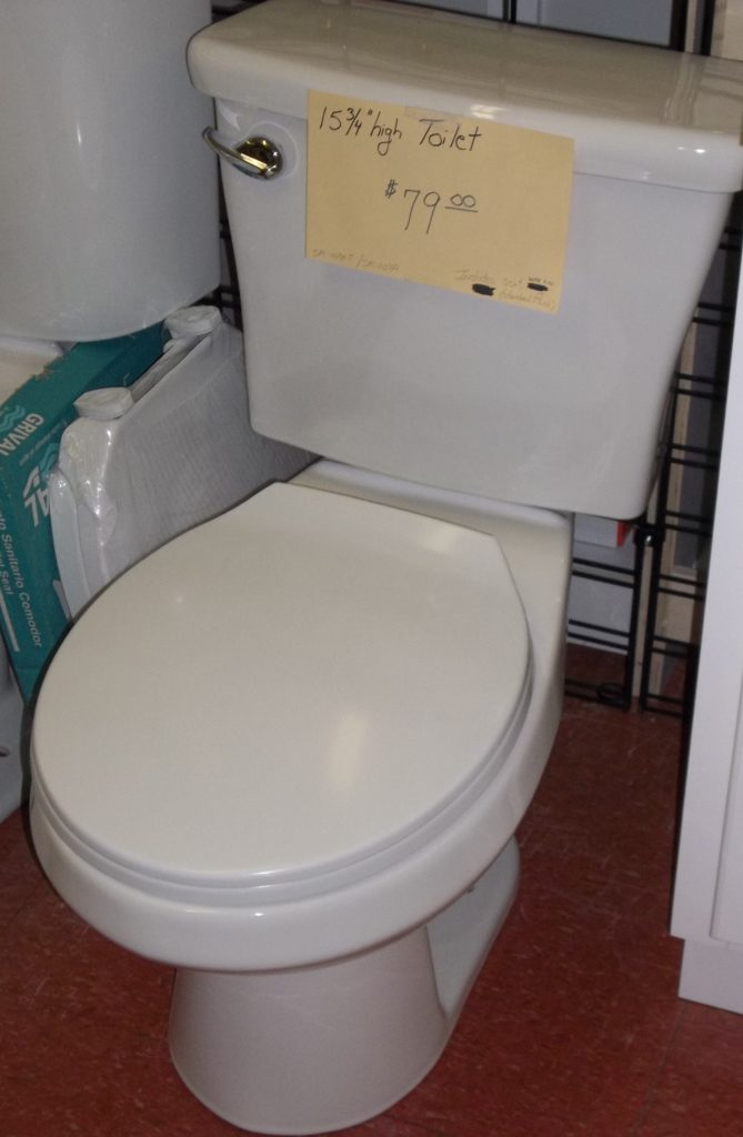 Standard Height Toilet $79. Round bowl