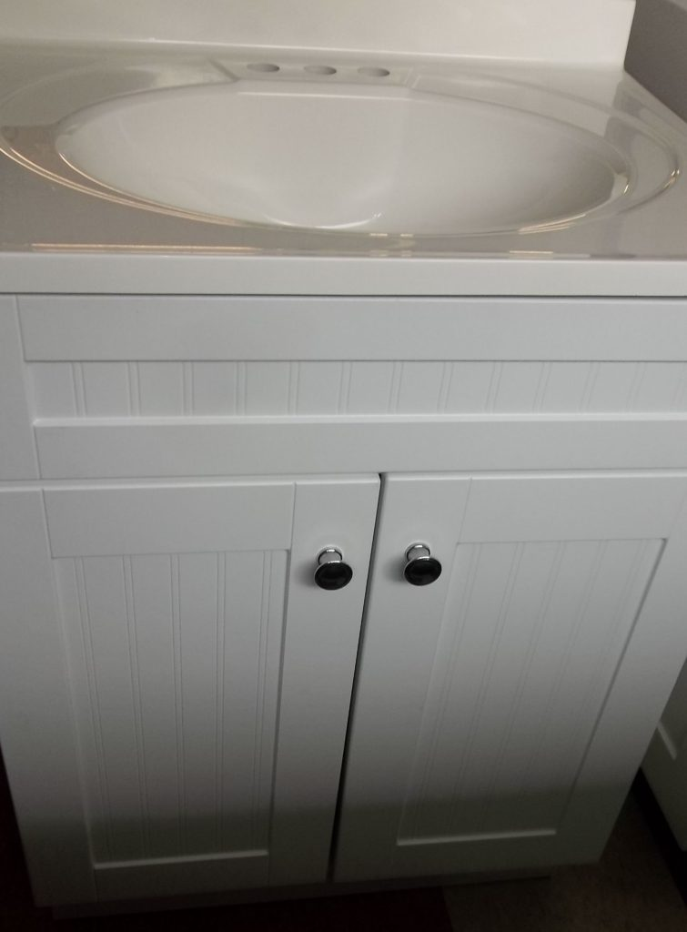 Country White vanity & top 24x18 $145.