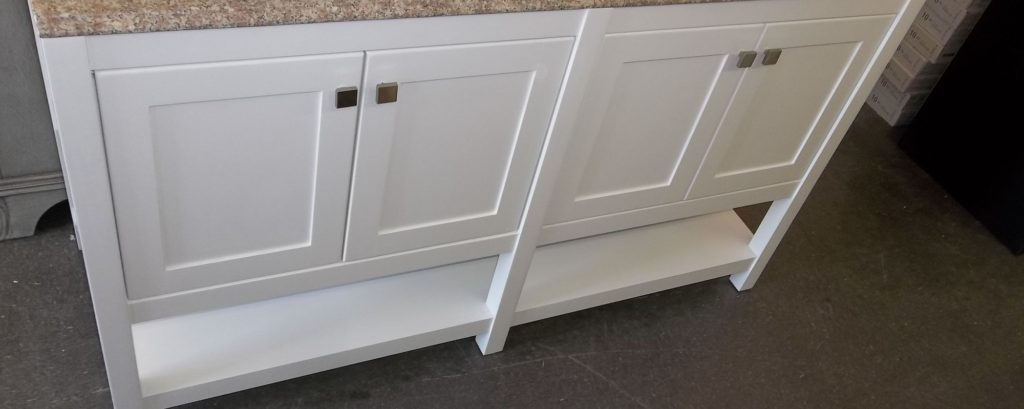 Trento White Vanity 60x21 $500